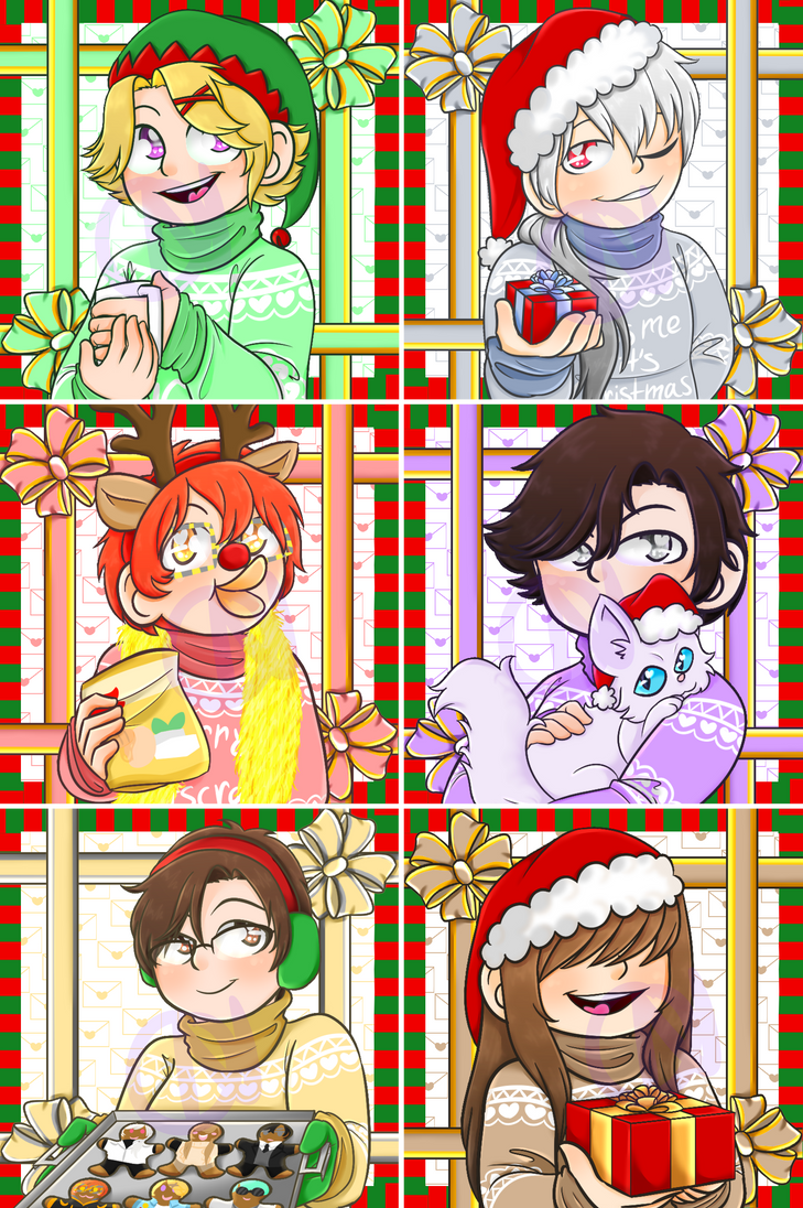 Mystic Messenger Christmas Icons by DCDr34m3r