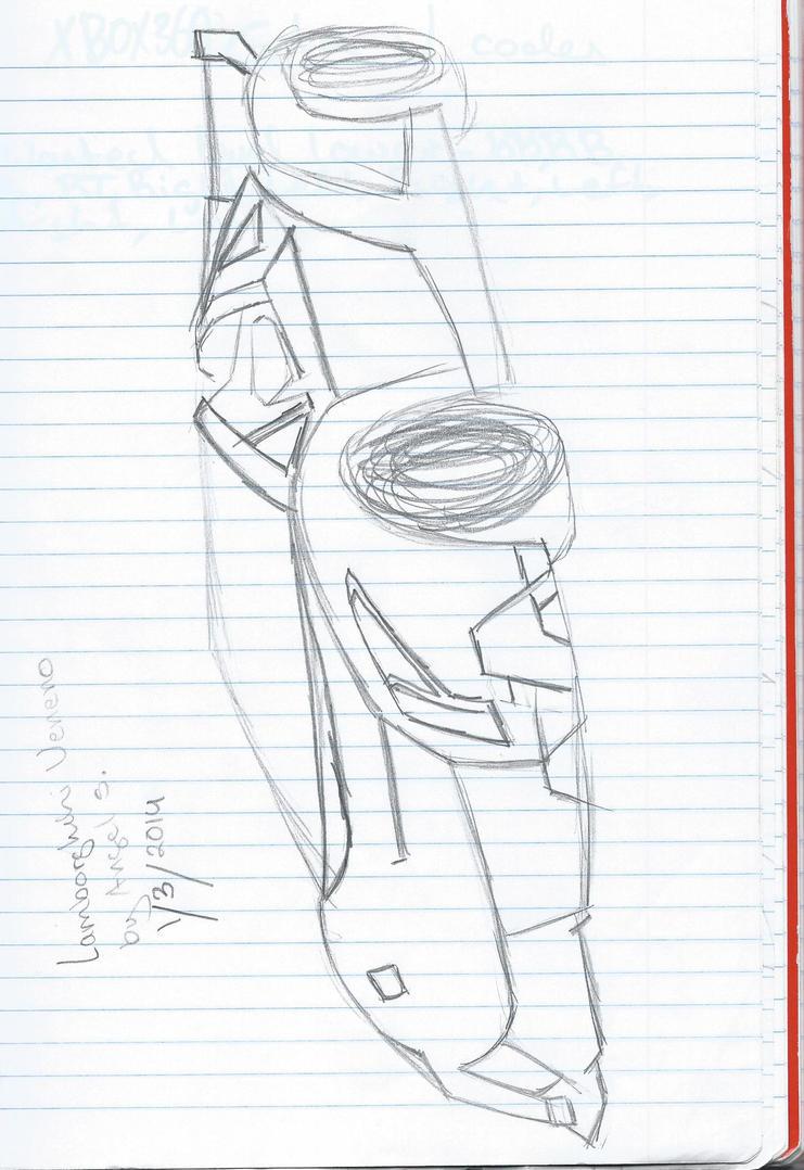 how to draw a realistic lamborghini veneno