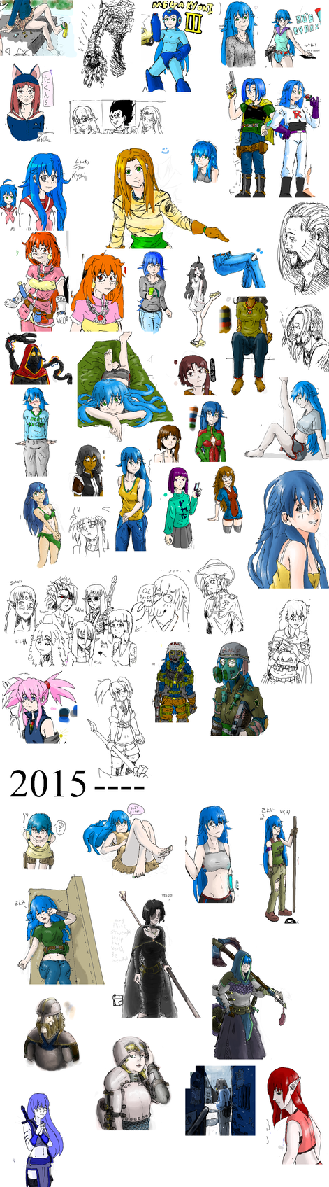 Sketch Dump late 2014- Feb 2015 by zerothe3rd