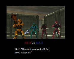RED VS BLUE POSTER XD by wolfjmk