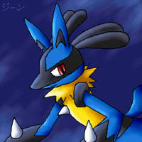 It's Lucario again by stardroidjean