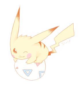 Pikachu + Togepi by stardroidjean