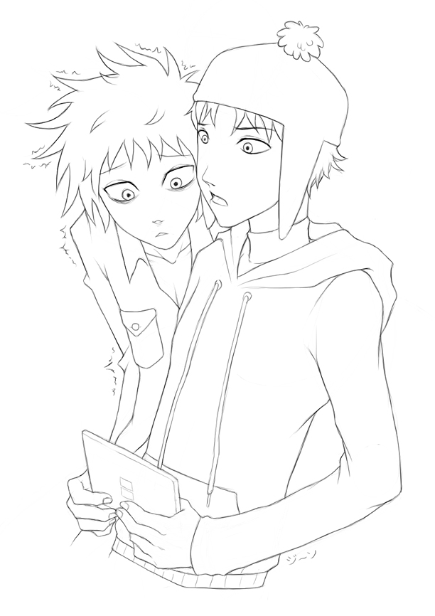 nintendogs coloring pages | Craig x Tweek + DS by stardroidjean on DeviantArt