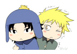 Craig x Tweek chibis by stardroidjean