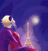 Parisienne moonlight by Zakuuya