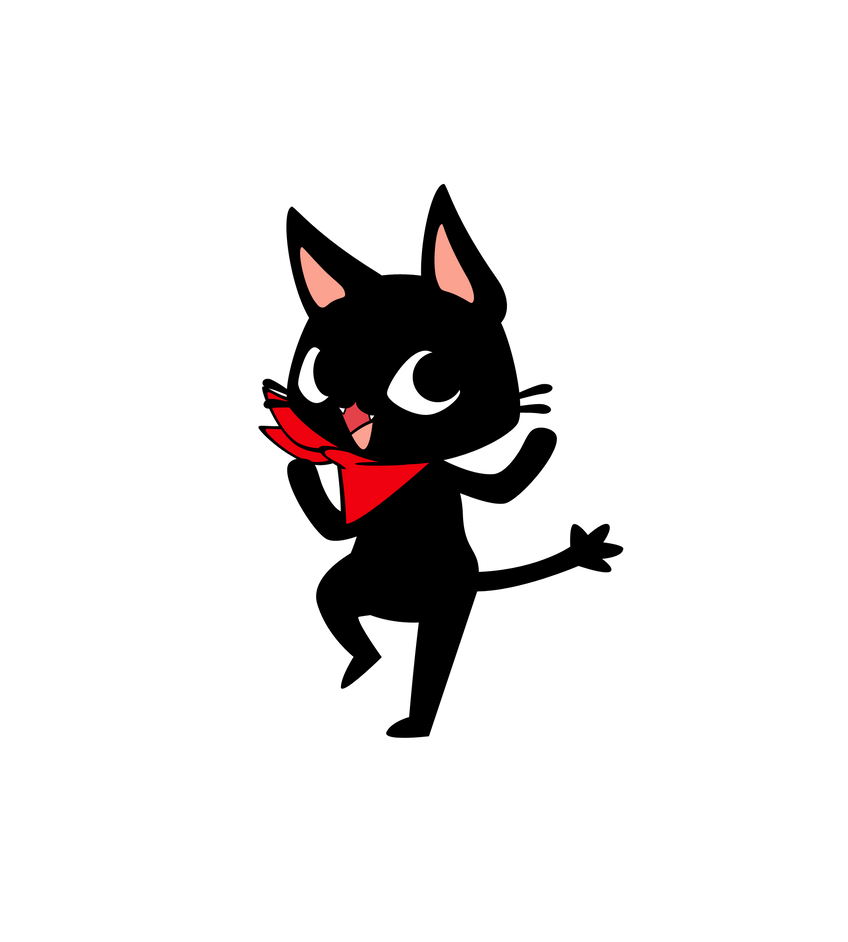 Funny Pixel Cat Japanese Gif