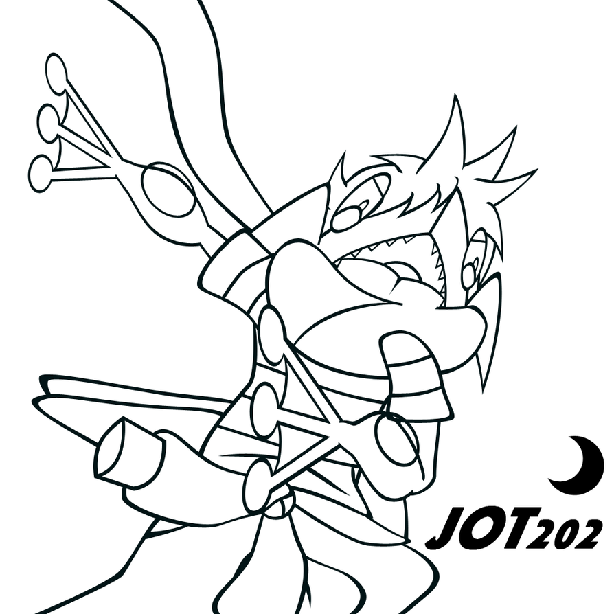Fred the greninja line art by jot202 on deviantart for Coloring pages of greninja
