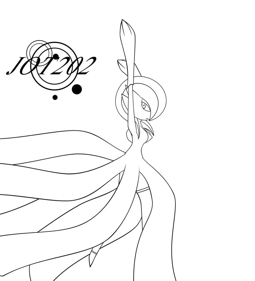 Line Art Xl 2000 : Trixie the gardevoir lineart by jot on deviantart