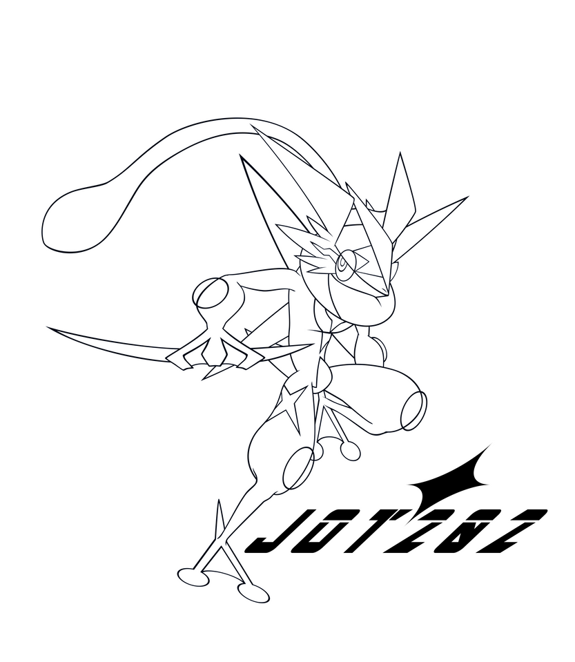 Ash greninja 2016 lineart remix by jot202 on deviantart for Coloring pages of greninja