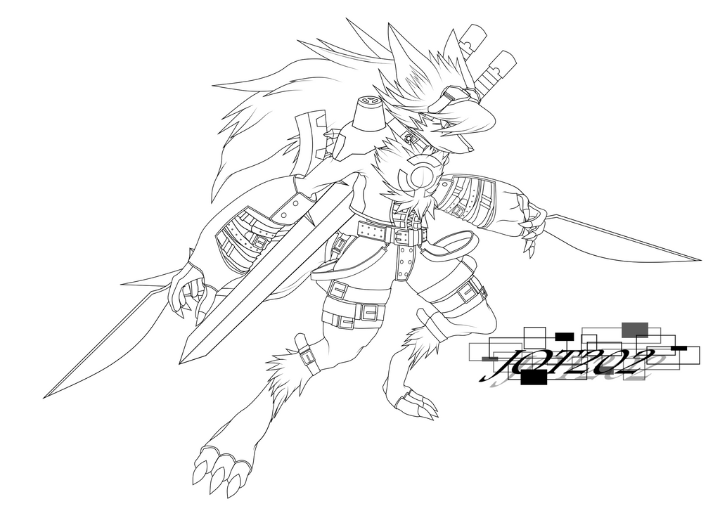 Q Line Art : Shutmon line art by jot on deviantart