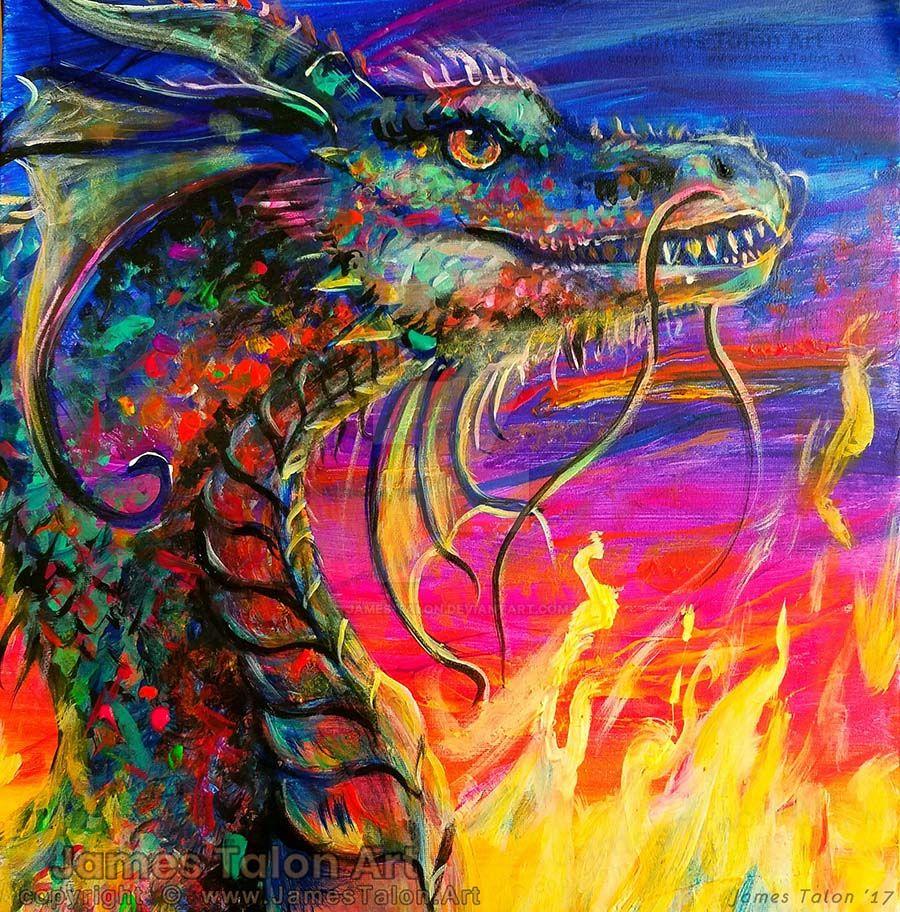 Psychedelic Dragon by james-talon