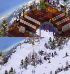 Dreamy Mountain Ski Resort by james-talon