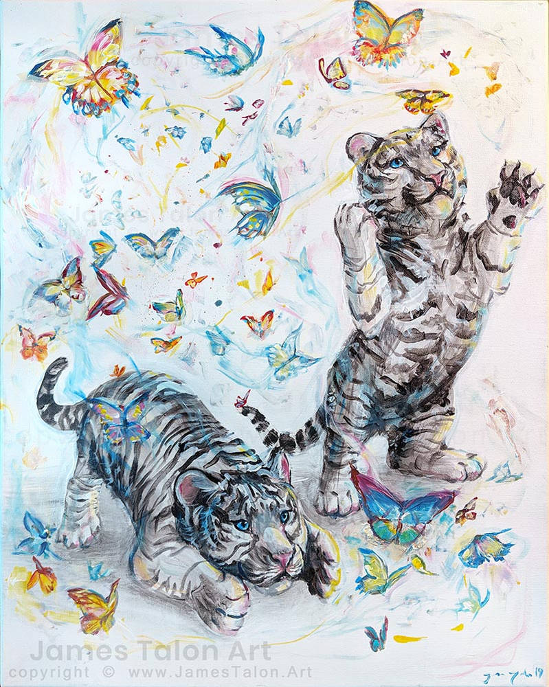 Tigers and Butterflies by james-talon