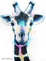 Splatter giraffe by james-talon