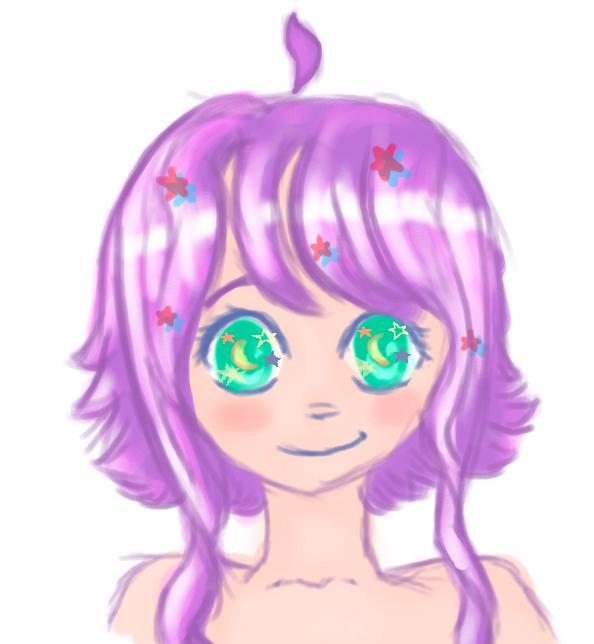 Colourful cutesy girl by xXoGhostlyoXx