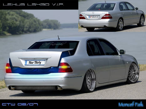 Lexus LS430 Rear View