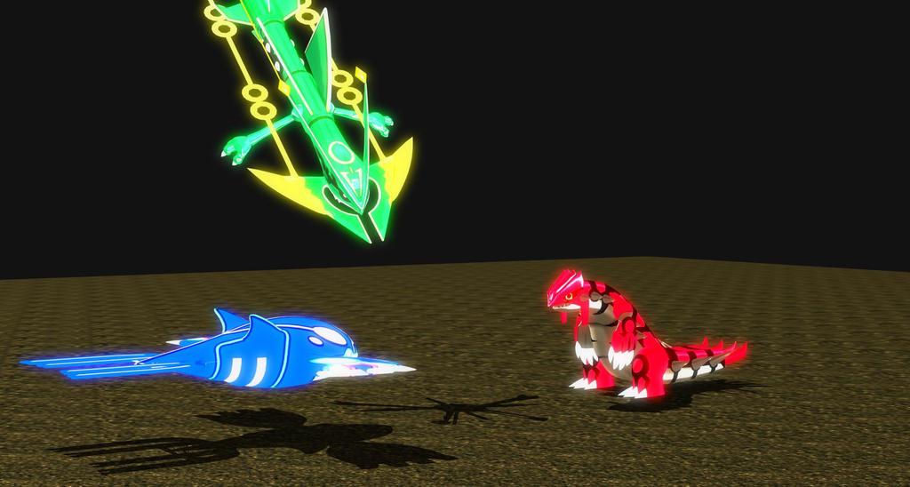 Primal Kyogre vs Primal Groudon vs Mega Rayquaza by DSX8 ...