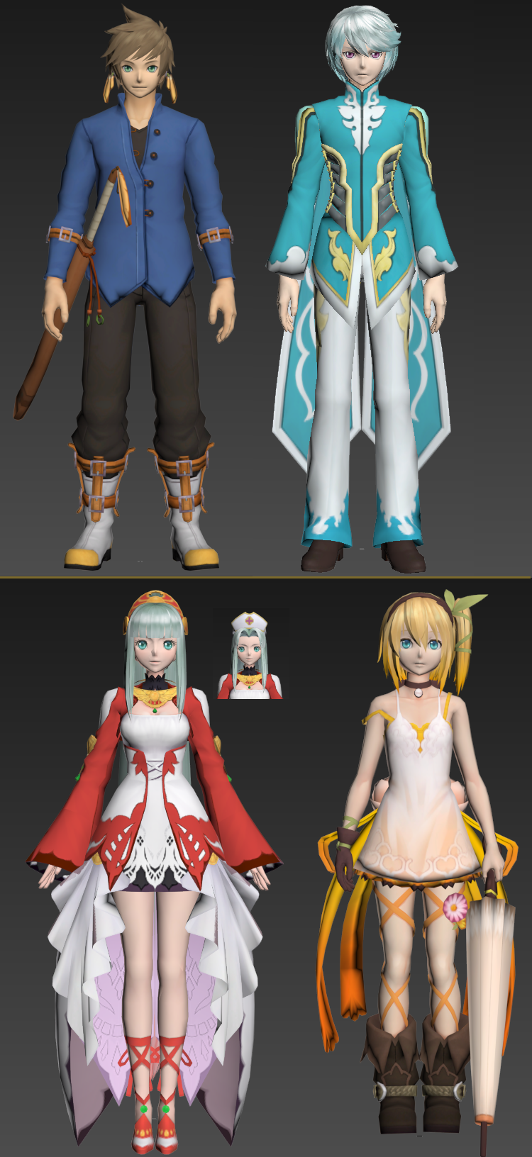Tales of Zestiria Chars (Pack 1)