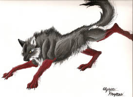 Wolf Painting by Lycanthrope818