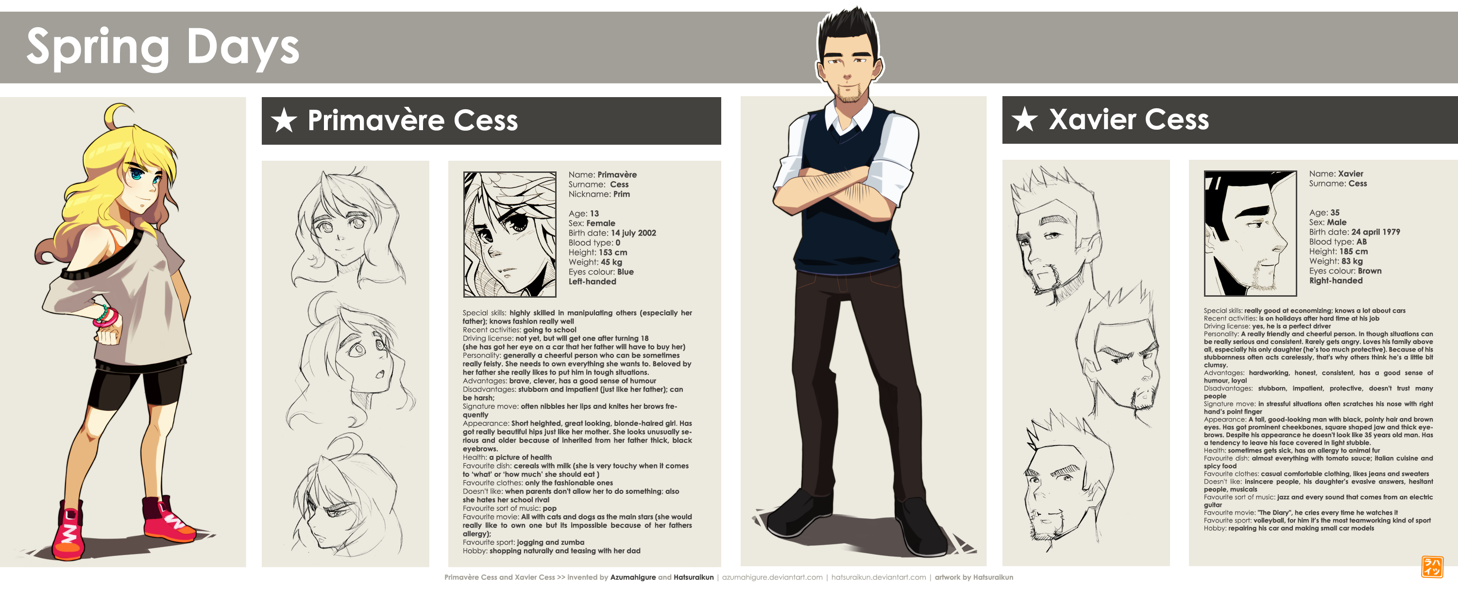 Mu Challenge 4 Spring Days Character Bio Sheet By