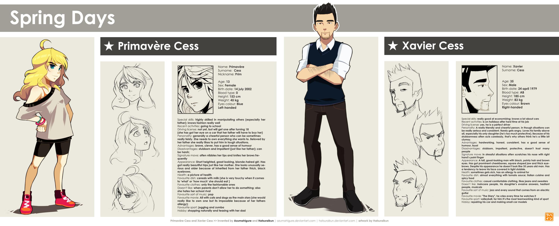 Mu Challenge 4 Spring Days Character Bio Sheet By