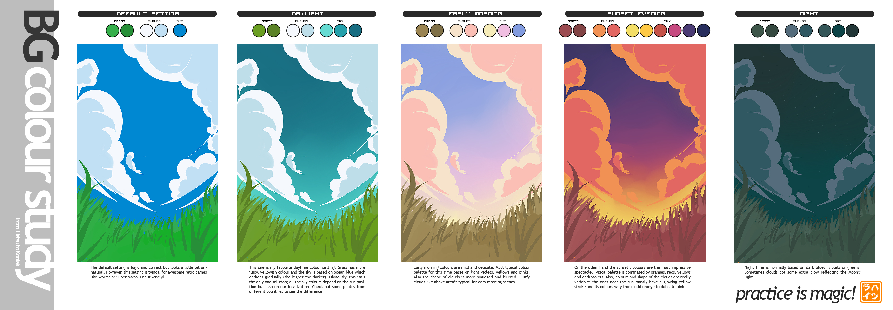 BG Colour Study for Koniak