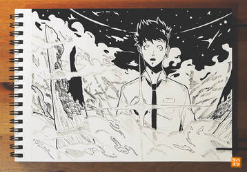 Inktober 04: The Mist by Hatsuraikun