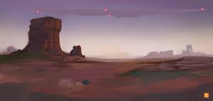Bending Sky - Chasing Spaceships on the Wasteland by Hatsuraikun