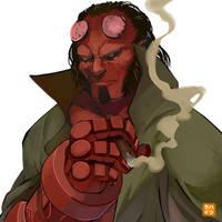Six Fanarts Challenge: 01 Hellboy