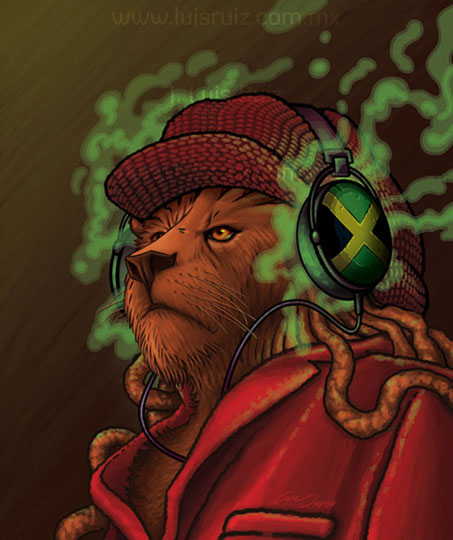 Rasta Lion With Dreads Wallpaper