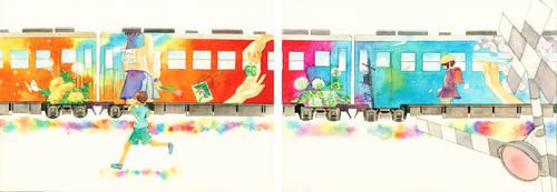 Good bye,train.