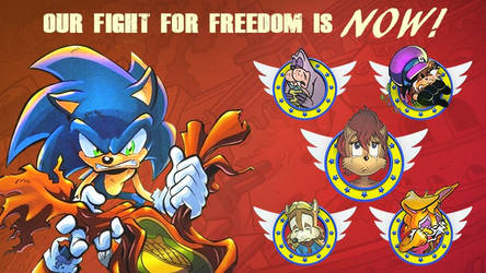 Save The Freedom Fighters Banner by rickychip