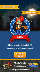 Sally Acorn - Sonic Dash Profile by rickychip