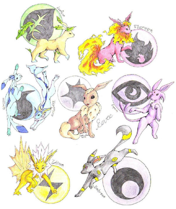 Eevee Evolution by Sketses