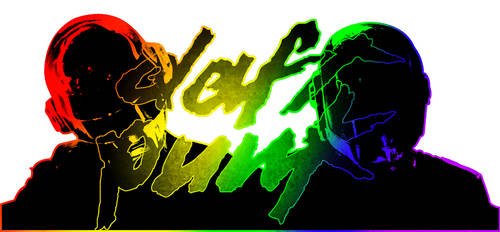 Daft Punk Rainbow Banner by NotAgOat