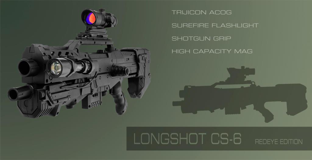 Nerf Longshot CS-6 Mod by Croc-blanc