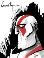 Kratos sketch by LorenaAzpiri