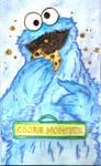 Cookie Monster watercolor