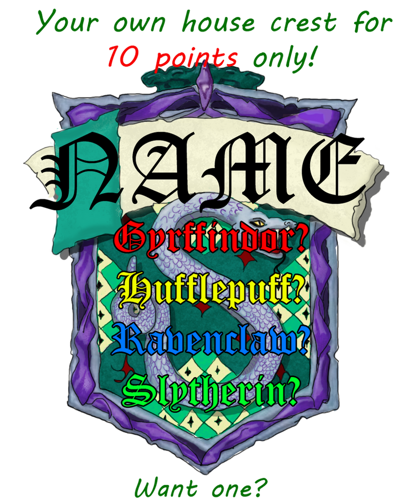 House Crest 10 Points Or 1 Usd By Lost In Hogwarts On