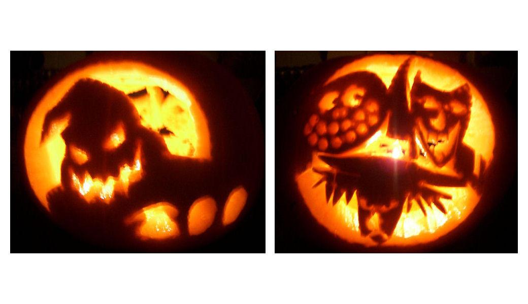 My first halloween pumpkin by saphrian on deviantart oogie boogie pumpkin by surf chick pronofoot35fo Gallery
