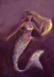 Mermay 2018 - Golden Mermaid by SerifeB
