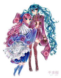 VOCALOID - Senbonzakura - Miku x Luka by HiddenService