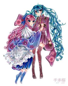 VOCALOID - Senbonzakura - Miku x Luka