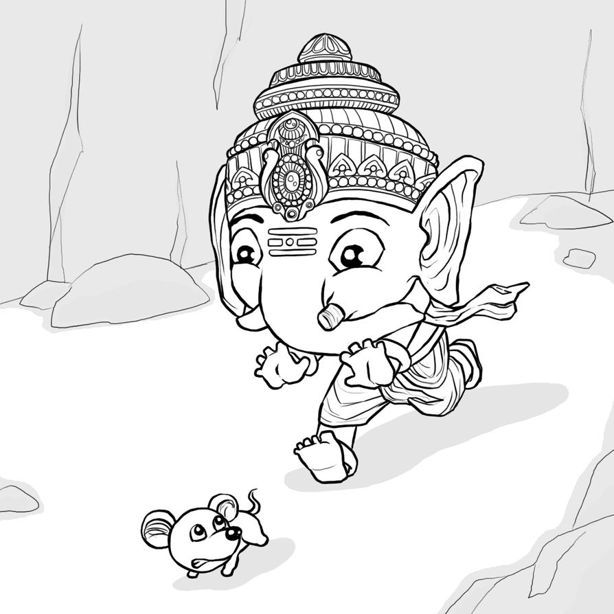 Image Result For Simple Ganesha Coloring