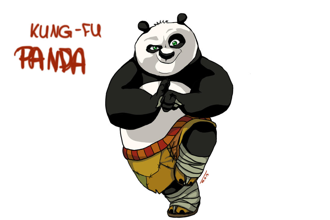 Kung fu panda po drawing