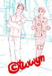 Glee Sebastian and Blaine Syberia by FlashDansLeCiel
