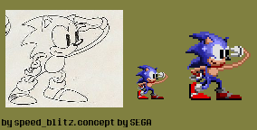 Sonic Looking Sprite by Speed-Blitz69