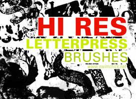 FREE HIRES LETTERPRESS BRUSH by zerofiction