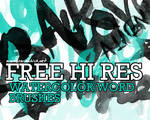 FREE HIRES WATERCOLOR BRUSHES3
