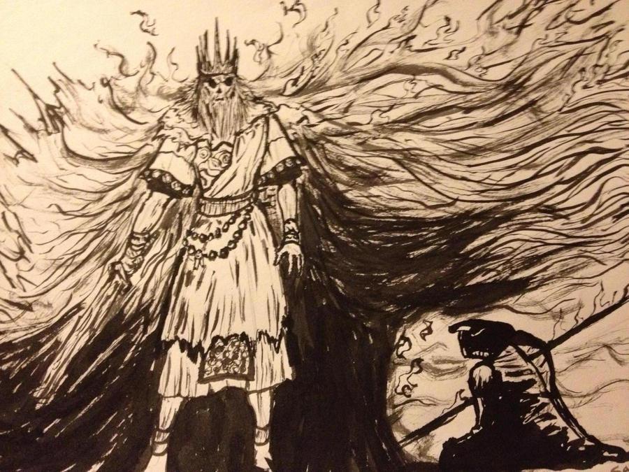 Soul Of Cinder Fan Art: Gwyn, Lord Of Cinder By Sayertheslayer17 On DeviantArt